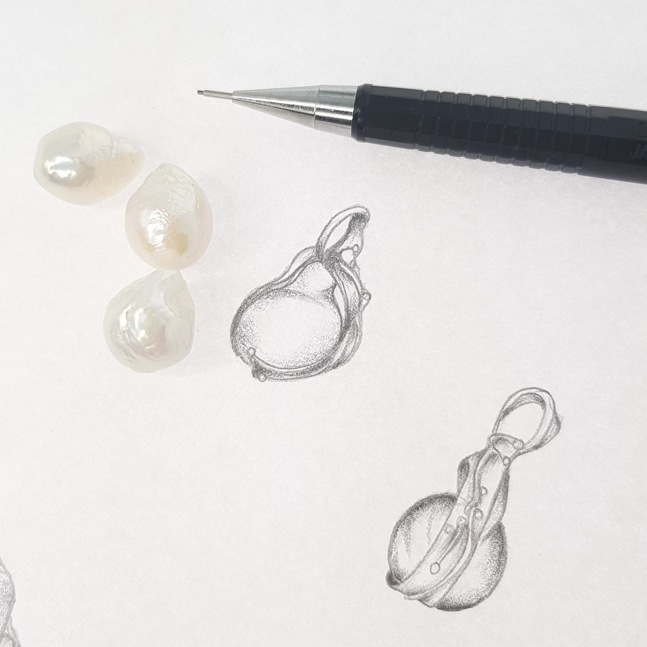 Pearls and drawing